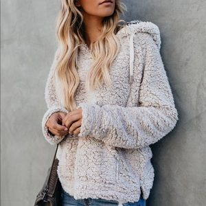 Fluffy Pocketed Pullover